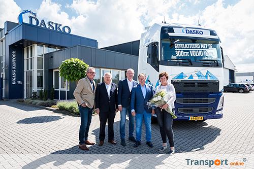300ste Volvo-truck voor Dasko Groep