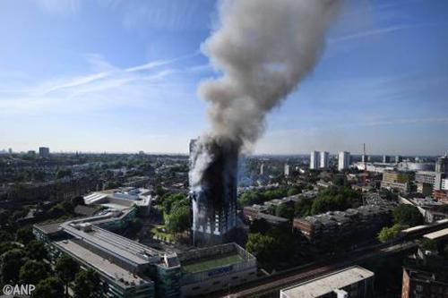 Doden door brand in Grenfell Tower Londen