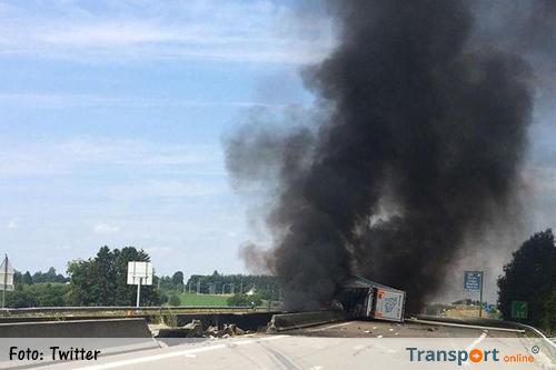 Belgische E411 dagen dicht na vrachtwagenbrand [+foto's]