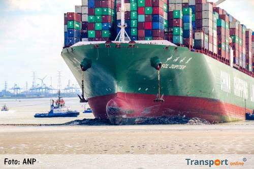 Vastgelopen containerschip Westerschelde 'CSCL Jupiter' had defect roer