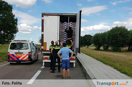 Inklimmers vrachtwagens steeds verder Nederland in