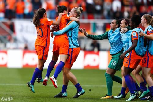 Oranje wint voor eerste keer EK vrouwenvoetbal