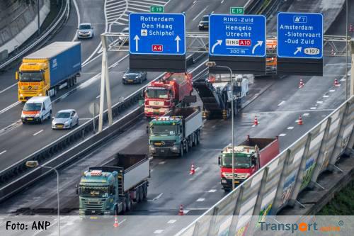 Wegwerkzaamheden A10 West halverwege
