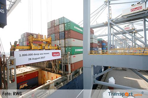 Miljoenste container voor RWG