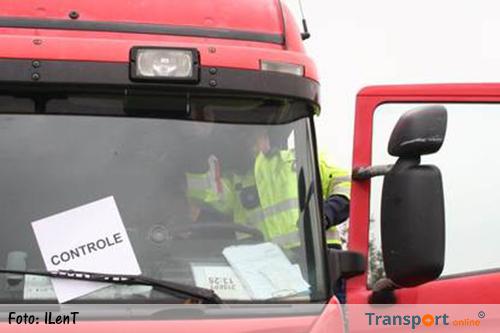 Veertig procent van gecontroleerde vrachtwagens in overtreding tijdens Benelux-controle