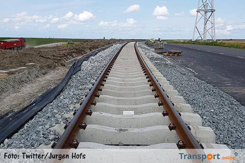 Nieuwe spoorlijn naar Groningse Eemshaven