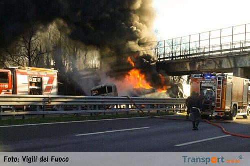Zes doden door brandende tankwagen in Italië [+foto's&video]