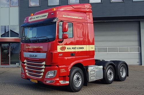 H.N. Post en Zonen bestelt twintig nieuwe DAF vrachtwagens
