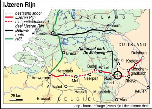 Studie: heropen IJzeren Rijn via Venlo