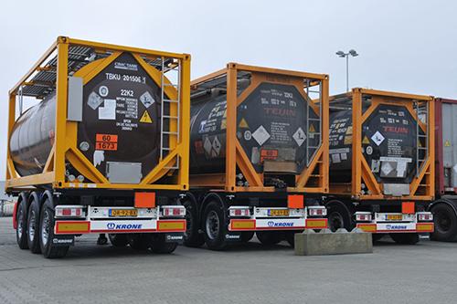Achttien containerchassis voor J. Wildeman Storage & Logistics