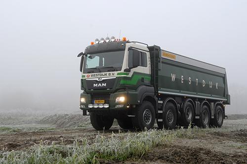 MAN TGS 50.500 WSA-H voor Westdijk Transport