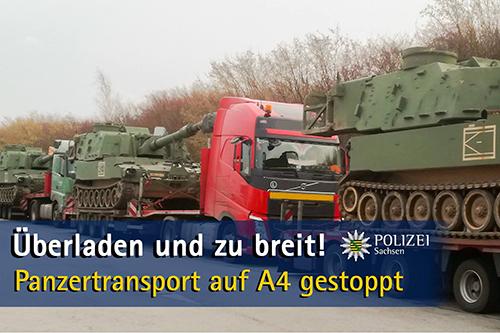 Duitse politie zet transport met zes M109-houwitsers stil na reeks aan overtredingen [+foto]