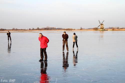 Schaatsen in Friesland nog onveilig