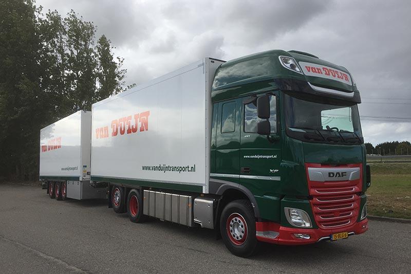 Twee nieuwe DAF XF voor Van Duijn en Zonen