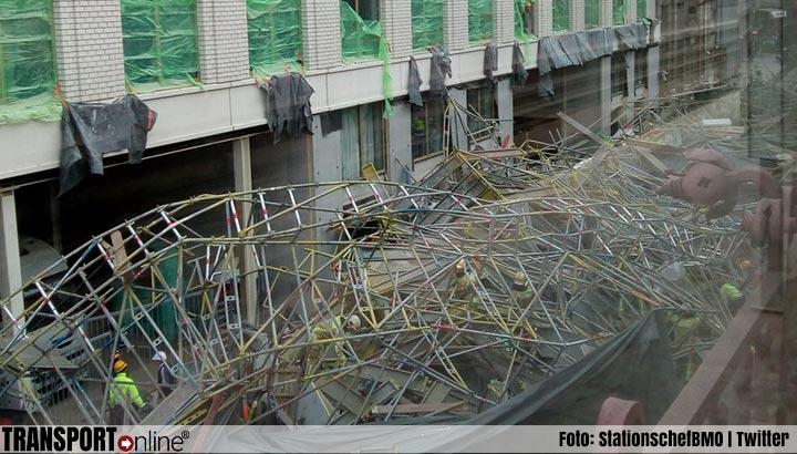 Dode door ingestorte steiger Antwerpen [+foto's]