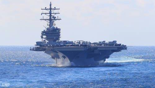 Helikopter stort neer op vliegdekschip USS Ronald Reagan