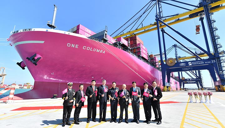 Hutchison Ports Terminal D verwelkomt grootste containerschip ooit in Thailand
