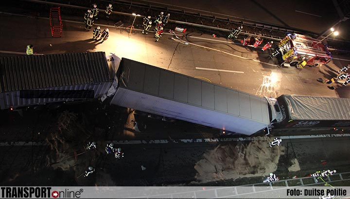 Vrachtwagenchauffeur komt om het leven bij ongeval op Duitse A1 [+foto]