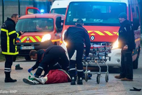 Gewonden door kogels tijdens rellen in Calais