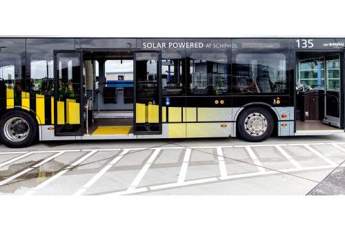 Alle lijnbussen op Schiphol elektrisch