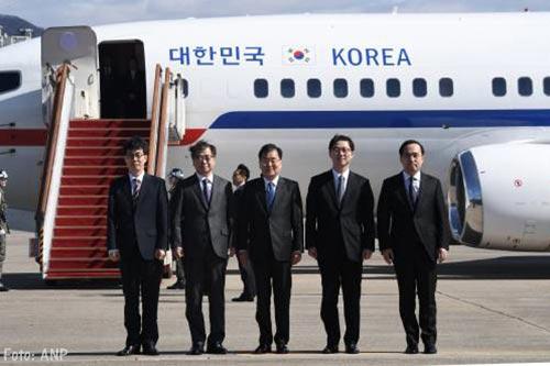 Gezanten Zuid-Korea aangekomen in Noord-Korea