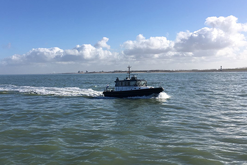 Nieuwe peilboot van North Sea Port vaart langs beide kanten van de grens