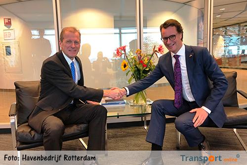Noordrijn-Westfalen en Havenbedrijf Rotterdam besluiten tot havenovereenkomst