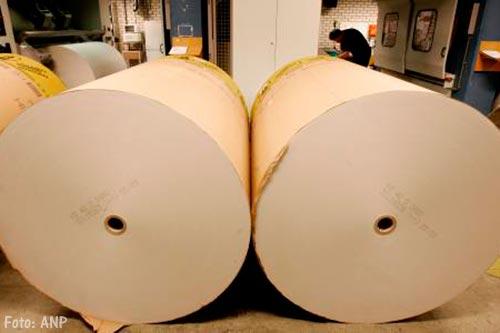 Krantenbijlagen aangepast wegens papiergebrek