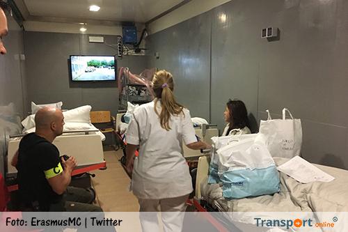 Patiënten Erasmus MC worden in vrachtwagens verhuisd naar nieuwe locatie [+foto's&video]