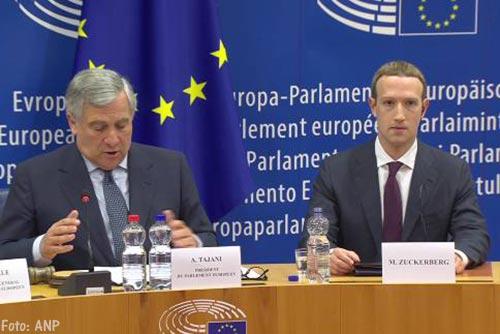 Onvrede in EU-parlement na gesprek met Facebook-topman Mark Zuckerberg