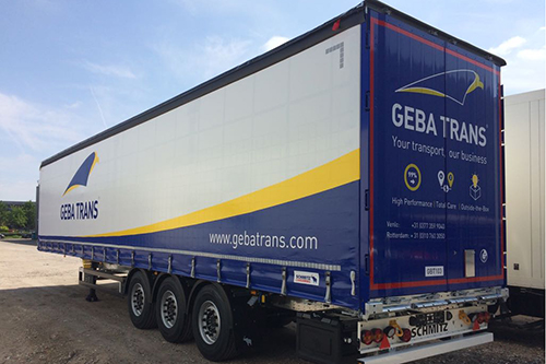 Tien nieuwe opleggers voor GEBA Trans