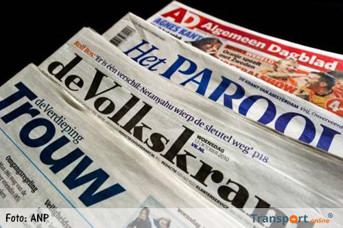 Grote storing bij landelijke kranten