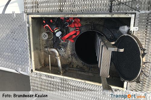 Brandweer redt bewusteloze vrachtwagenchauffeur uit tank