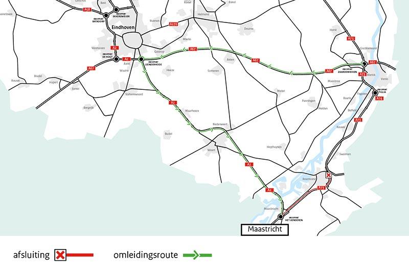 A73 één week dicht tussen Roermond en knooppunt Het Vonderen