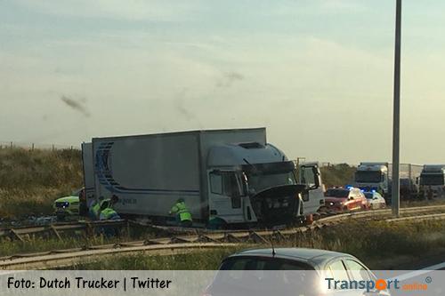 Aanrijding met twee vrachtwagens op Belgische E19 [+foto's]