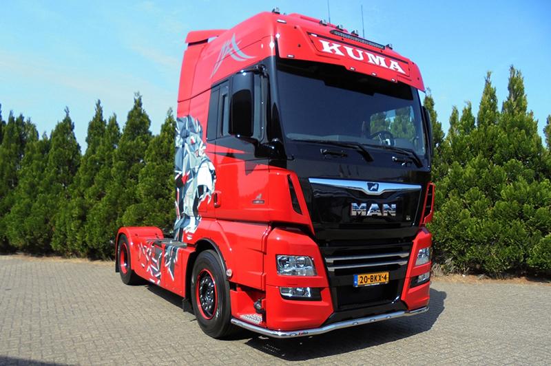 Kuma Transport neemt vier MAN TGX Lion500Edition trekkers in gebruik