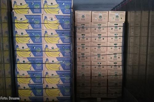 Ruim 1700 kilo drugs in container met bananen gevonden