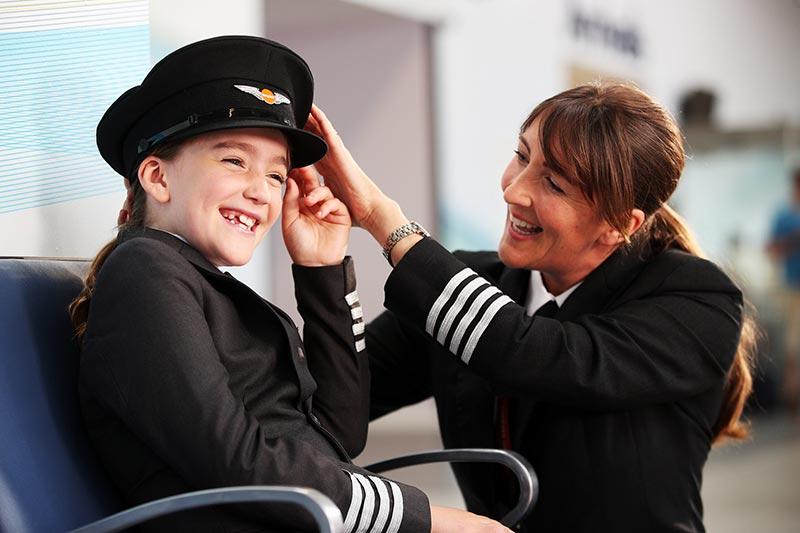 easyJet probeert meisjes enthousiast te maken voor pilotenvak