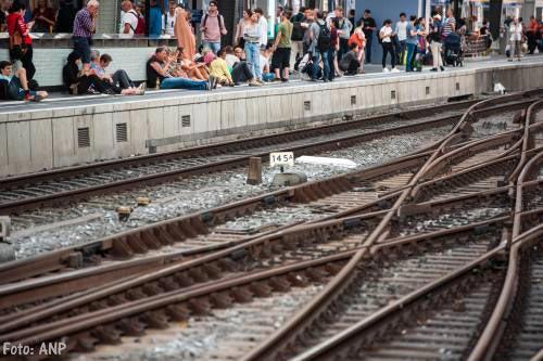 Vluchtende dief veroorzaakte treinstoring rond Amsterdam
