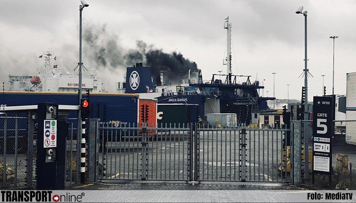Veel rook na werkzaamheden op ferry in Vlaardingen [+foto]