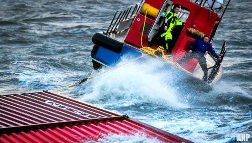 Bergingsoperatie zeecontainers uitgesteld