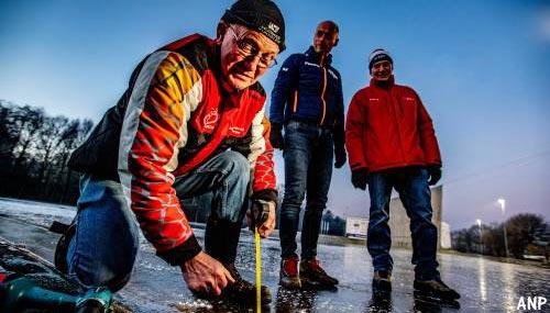 Eerste marathon natuurijs weer in Haaksbergen