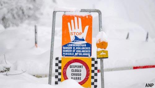 Skigebied ontruimd om lawinegevaar