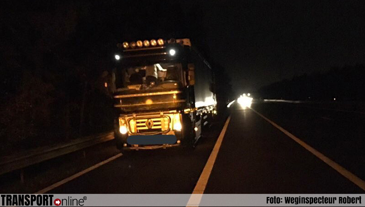 Meerdere vrachtwagenchauffeurs weggestuurd van A58 en A67 [+foto's]