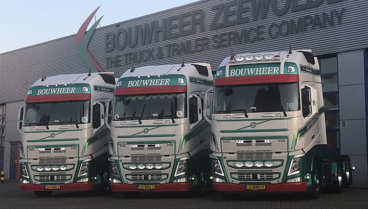 Drie nieuwe Volvo FH trekkers voor Bouwheer Zeewolde