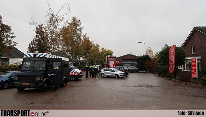 Inval bij transportbedrijf in Berghem [+foto's]