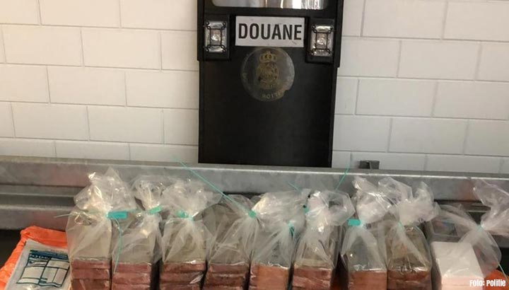 Bijna 100 kilo coke gevonden in container met meloenen