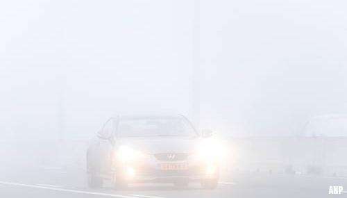 Dichte mist en gladheid in het zuiden