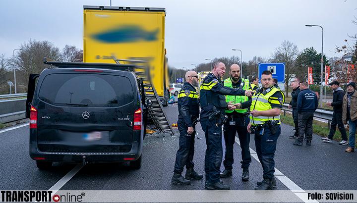 Ongeval met vrachtwagen op A27 [+foto]