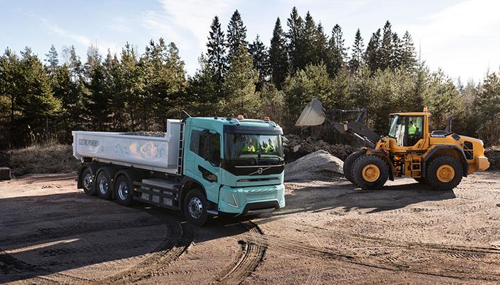Volvo Trucks presenteert zware elektrische concepttrucks voor bouwwerkzaamheden en regionaal transport